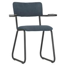 Krzesło RIBB z podłokietnikami - niebieskie
