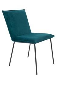 Krzesło FLOKE velvet - petrol