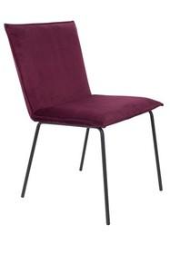 Krzesło FLOKE velvet - bordowy