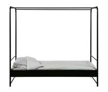 Łóżko BUNK 90x200 cm metalowe - czarne