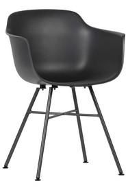 Zestaw 2 krzeseł MARLY - antracytowy