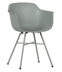 Zestaw 2 krzeseł MARLY - szary