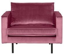 Fotel RODEO aksamitny - różowy