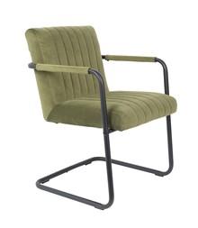 Fotel STITCHED - velvet oliwkowy