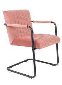 Fotel STITCHED - velvet różowy