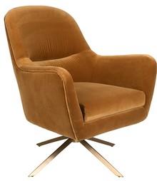 Fotel lounge ROBUSTO - musztardowy