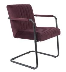 Fotel STITCHED - velvet fioletowy