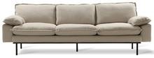 Sofa Retro 4-osobowa beżowa