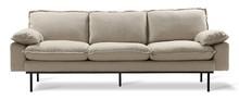 Sofa Retro 3-osobowa beżowa