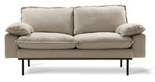 Sofa Retro 2-osobowa beżowa