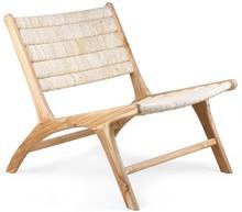 Fotel z drewna tekowego/abaka z oparciem