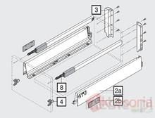 20 Szuflad Tandembox ANTARO 50cm BIAŁA 30kg + Młot BOSCH PROMOCJA - Blum