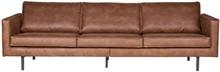 Sofa FR RODEO 3-osobowa - skóra koniakowa