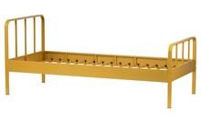 Łóżko MEES 90x200 - musztardowy