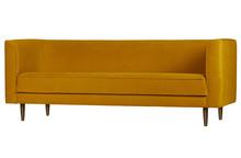 Sofa Studio 3-osobowa velvet musztardowa