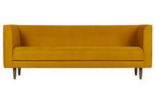Sofa 3-osobowa STUDIO velvet - musztardowy