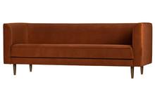 Sofa Studio 3-osobowa velvet rdzawa