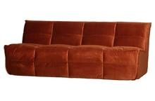Sofa Cluster 3-osobowa velvet rdzawa