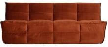 Sofa CLUSTER 3-osobowa velvet - rdzawa