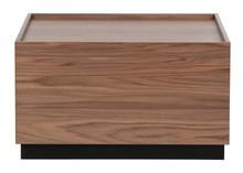 Stolik kawowy BLOCK 82x82 - brązowy