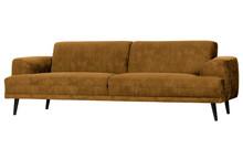 Sofa Brush 3-osobowa 234 cm velvet musztardowa