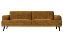 Sofa 3-osobowa BRUSH velvet - musztardowy