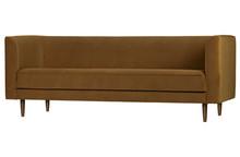 Sofa Studio 3-osobowa velvet cynamonowa