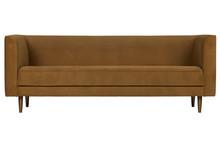 Sofa 3-osobowa STUDIO velvet - cynamon