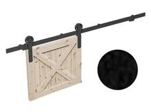 Prowadnice do drzwi RAN- komplet wózków do drzwi przesuwnych ROC DESIGN, czarny, kółka pełne - Valcomp