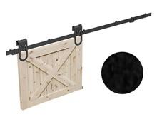 Prowadnice do drzwi MAGNI- komplet wózków do drzwi przesuwnych ROC DESIGN, czarny, kółka ażurowe - Valcomp