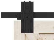 Prowadnice do drzwi YMIR- komplet wózków do drwi przesuwnych ROC DESIGN, czarny, kółka pełne - Valcomp