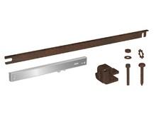 Prowadnice do drzwi SILENT-STOP Samodomykacz do drzwi ROC DESIGN z mocowaniem, czarny - Valcomp