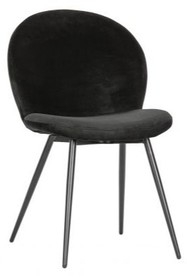 Zestaw 2 krzeseł BRAM aksamitne - czarne