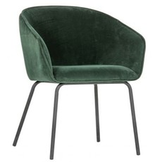 Zestaw 2 krzeseł SIEN velvet - ciepła zieleń