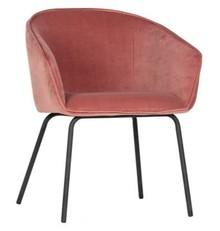 Zestaw 2 krzeseł SIEN velvet - różowe