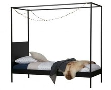Łóżko BARON 90x200 cm - czarne