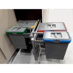 ECO-CORNER 4 kosze 2x15L + 2x6L LEWY  • łatwy montaż w korpusie szafki • do szafek narożnych z frontem 450mm • optymalne wykorzystanie przestrzeni...