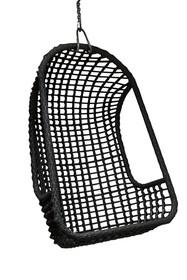 Wiszący fotel na zewnątrz - czarny