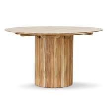 Okrągły stół filarowy z drewna tekowego 140 cm