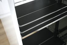 MAXIMA SILVA  Cargo mini dolne 500 metal/mdf chrom/grafit - Rejs