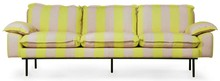 Sofa 4-osobowa RETRO - paski żółto-cieliste