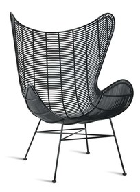 Fotel EGG outdoor - czarny