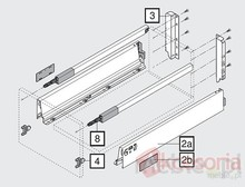 20 Szuflad Tandembox ANTARO 50cm SZARA 30kg +Servo-Drive UNO - Blum