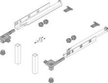 SPACE STEP  Zestaw Tworzywo Sztuczne/Stal, dł.=410 mm - Blum