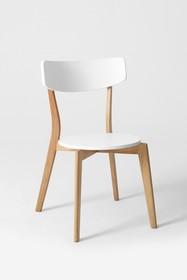 Krzesło TONE - biały/naturalny