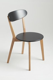 Krzesło TONE - czarny, naturalny