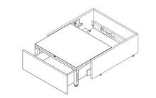 SPACE STEP  Zestaw Tworzywo Sztuczne/Stal, dł.=460 mm - Blum