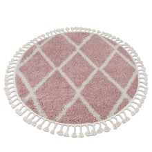 Dywan okrągły ALISA - różowy