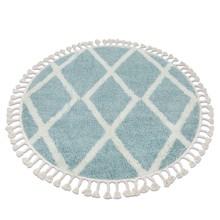 Dywan okrągły ALISA - niebieski