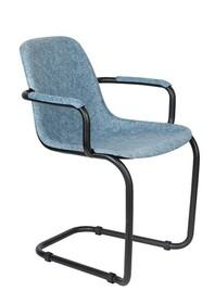 Krzesło z podłokietnikami THIRSTY - niebieski